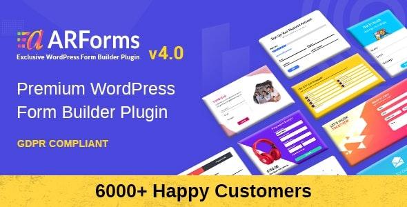 Фото ARForms 4.3.1 + Addons — WordPress Form Builder Plugin