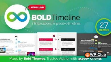 Фото Bold Timeline 1.1.1 — плагин временной шкалы WordPress