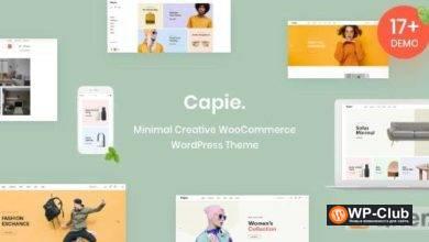 Фото Capie 1.0.20 — минимальная креативная тема для WooCommerce