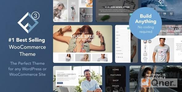 Фото Flatsome 3.12.3 Nulled — адаптивная WooCommerce тема WordPress