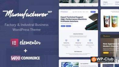 Фото Manufacturer 1.2.2 — тема WordPress для фабрик и промышленности