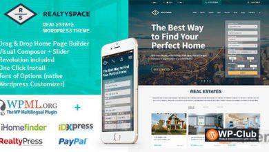 Фото Realtyspace 1.4.20 — WordPress тема сайта недвижимости