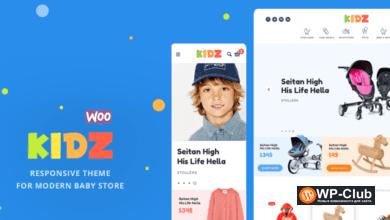 Фото KIDZ 4.3.1 — WordPress тема магазина детских товаров