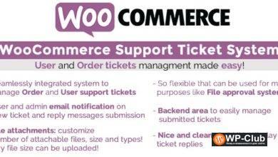 Фото WooCommerce Support Ticket System 13.3 — Система заявок поддержки WooCommerce