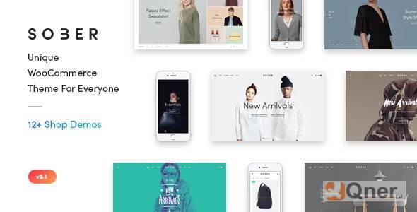 Фото Sober 3.0.0 — современная тема электронной коммерции для WooCommerce