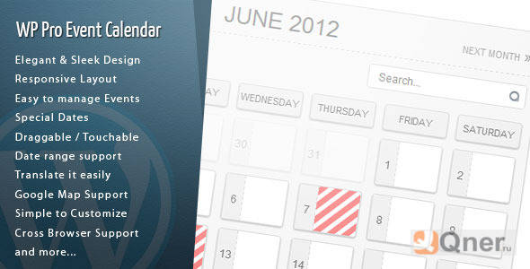 Фото WordPress Pro Event Calendar 3.2.4 — календарь событий WordPress