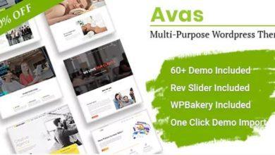 Фото Avas 6.1.17 NULLED — многоцелевая тема WordPress