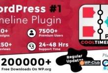 Фото Cool Timeline Pro 3.5 NULLED — плагин создания таймлайна WordPress