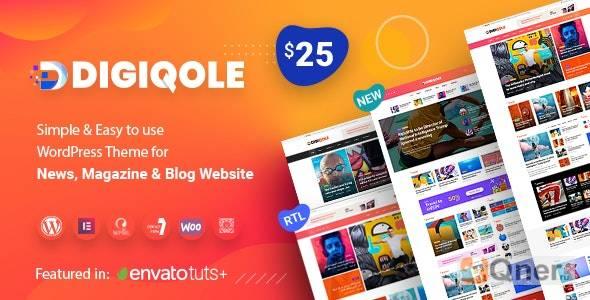Фото Digiqole 1.4.6 — тема WordPress для новостного портала
