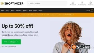 Фото Shoptimizer 2.2.8 — Многофункциональная тема для WooCommerce