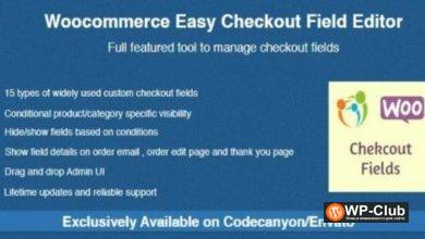 Фото Woocommerce Easy Checkout Field Editor 2.1.3 — плагин редактирование полей в форме заказов для Woocommerce
