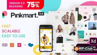 Фото Pinkmart 2.8 NULLED — AJAX тема для WooCommerce
