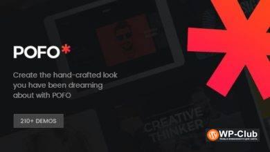 Фото Pofo 1.3.2 — креативная тема портфолио, блога для WordPress