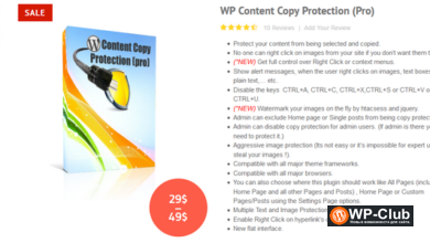 Фото WP Content Copy Protection Pro 9.8 — защита от копирования WordPress