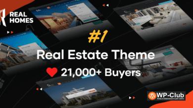 Фото Real Homes 3.12.0 Nulled — шаблон недвижимости для WordPress