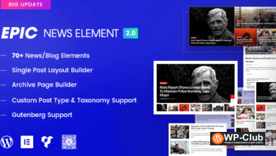 Фото Epic News Elements 2.2.9 NULLED — элементы для Elementor и WPBakery