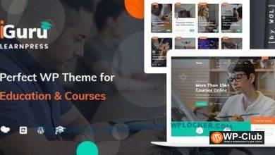 Фото iGuru 1.1.1 Nulled — WordPress тема образование и курсы