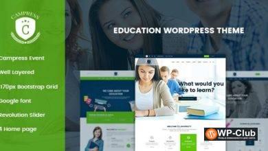 Фото Campress 1.19 — WordPress шаблон для сайта онлайн курсов