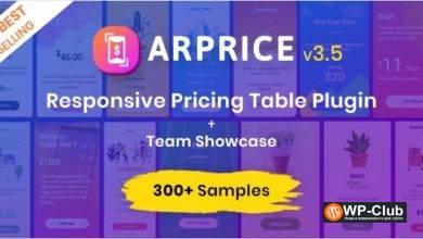 Фото ARPrice 3.8 — плагин создания таблиц цен для WordPress