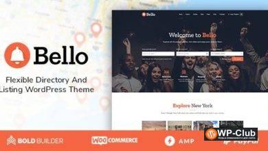 Фото Bello 1.5.4 — премиум тема каталога для WordPress