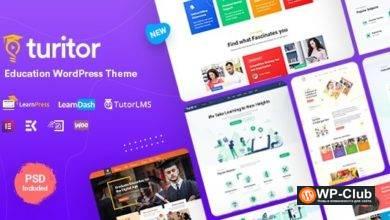 Фото Turitor 1.2.9 — образовательная LMS тема WordPress