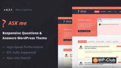 Фото Ask Me 6.4 — WordPress тема для сайта вопросов и ответов