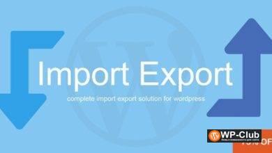 Фото WP Import Export 3.2.0 — импорт/экспорт данных WordPress