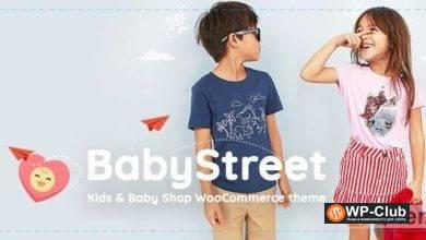 Фото BabyStreet 1.3.7 — тема WooCommerce для детских магазинов одежды и игрушек