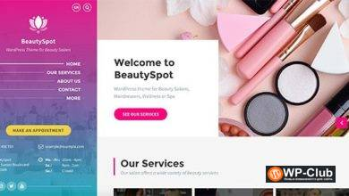 Фото BeautySpot 3.3.9 — WordPress тема для салонов красоты