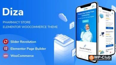 Фото Diza 1.1.2 — тема медицины Elementor WooCommerce