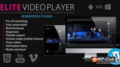 Фото Elite Video Player 6.2 — видеоплеер для WordPress