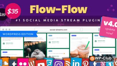 Фото Flow-Flow 4.6.12 — граббер из социальных сетей для WordPress