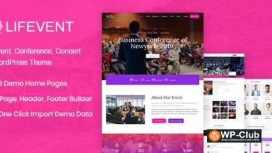 Фото Lifevent 1.0.4 — тема конференции WordPress