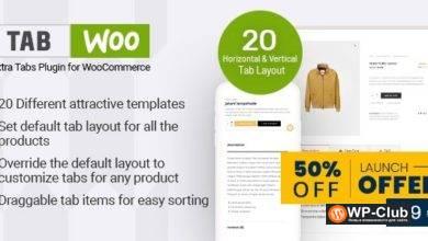 Фото TabWoo 1.0.8 — пользовательские вкладки продуктов для WooCommerce