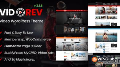 Фото VidoRev 2.9.9.9.7.5 Nulled — тема WordPress для видео, кино, новостей, журнала или блога