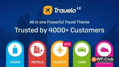 Фото Travelo 4.2.2 — WordPress тема для сайта бронирования отелей и туров