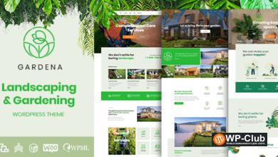 Фото Gardena 1.0.8 — WordPress тема ландшафтный дизайн и садоводство
