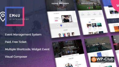 Фото Event EM4U 1.3.7 — WordPress шаблон событий и мероприятий