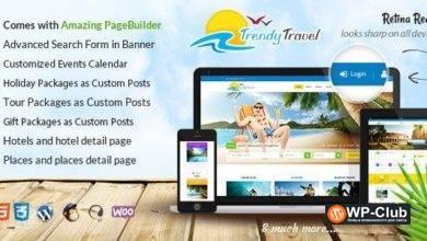 Фото Trendy Travel 4.9 — WordPress тема туризм/путешествие