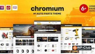 Фото Chromium 1.3.17 — магазин автозапчастей WordPress тема