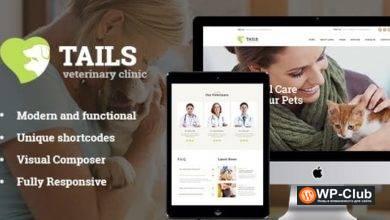Фото Tails 1.4.2 — ветеринарная клиника, уход за домашними животными и животными WordPress тема + Магазин