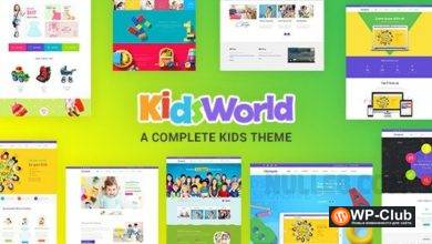 Фото Kids Heaven 2.4 — WordPress шаблон для детского сайта