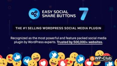 Фото Easy Social Share Buttons 7.5 — кнопки соцсетей на WordPress
