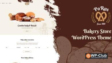 Фото Porus 1 0.3 — WordPress тема магазина пекарни и других предприятий, связанных с едой