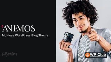 Фото Anemos 2.2.3 — многоразовая тема WordPress для блоггинга