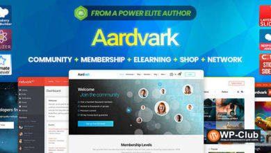 Фото Aardvark 4.27.1 — шаблон для сообщества BuddyPress WordPress