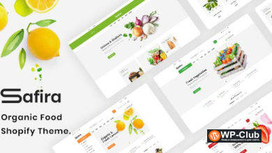 Фото Safira 1.0.5 — Food & Organic WooCommerce WordPress тема