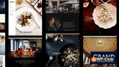 Фото Grand Restaurant WordPress 5.9.3 Nulled