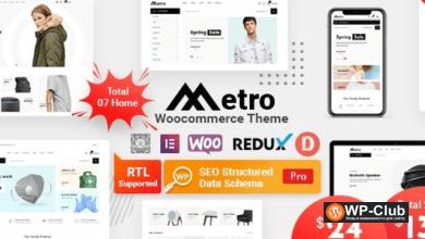Фото Metro 1.4.8 — тема WordPress для WooCommerce