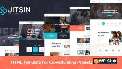 Фото Jitsin 1.0 — HTML Template For Crowdfunding Projects & Charity